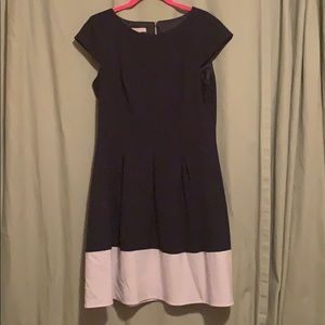 Navy and White Cap Sleeve Dress